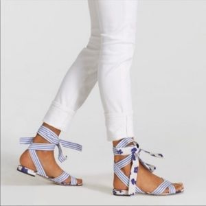 Cabi Watercolor Tied Up Sandals